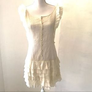 EUC Ralph Lauren Rugby Ivory Ruffled Dress Size 4